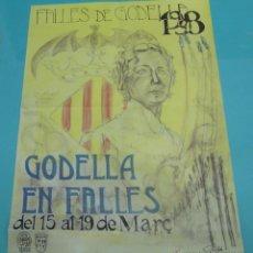 Carteles Feria: CARTEL FALLES DE GODELLA. 1998. FORMATO 48,5 X 67,5 CM. Lote 43440345