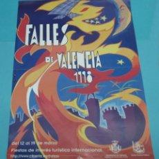 Carteles Feria: CARTEL FALLES DE VALÈNCIA. 1998. FORMATO 48 X 68,5 CM. Lote 249503640