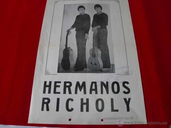 ALMERIA HERMANOS RICHOLY - AÑO 1975 43X30 CMS (Coleccionismo - Carteles Gran Formato - Carteles Ferias, Fiestas y Festejos)