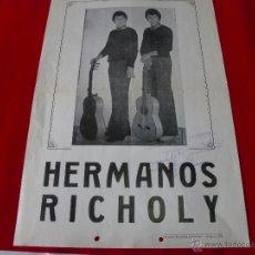 Carteles Feria: ALMERIA HERMANOS RICHOLY - AÑO 1975 43X30 CMS. Lote 43598941