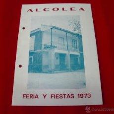 Carteles Feria: PROGRAMA DE FIESTAS ALCOLEA-ALMERIA 1973. Lote 43605349