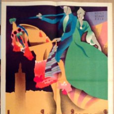 Carteles Feria: JOSEP RENAU CARTEL ORIGINAL GRAN FERIA DE VALENCIA 1929. Lote 44168657