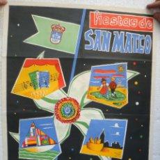 Carteles Feria: CARTEL FERIAS Y FIESTAS , OVIEDO 1960 , ASTURIAS , SAN MATEO , ORIGINAL , H. Lote 44286745