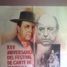 Carteles Feria: CARTEL XXV ANIVERSARIO FESTIVAL CANTE DE MAIRENA DEL ALCOR 1986. Lote 45037087