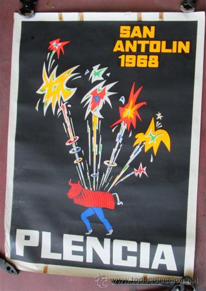FIESTAS DE SAN ANTOLIN 1968 -- PLENCIA - VIZCAYA (Coleccionismo - Carteles Gran Formato - Carteles Ferias, Fiestas y Festejos)