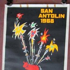 Carteles Feria: FIESTAS DE SAN ANTOLIN 1968 -- PLENCIA - VIZCAYA. Lote 45520803