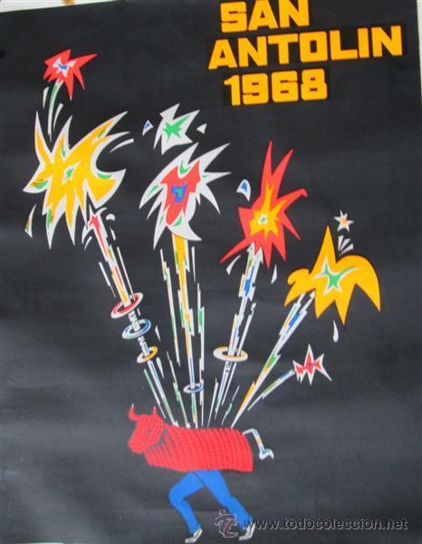 Carteles Feria: Fiestas de San Antolin 1968 -- Plencia - Vizcaya - Foto 2 - 45520803