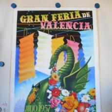 Carteles Feria: MAQUETA ORIGINAL GRAN FERIA DE JULIO DE VALENCIA 1957 - PINTURA ATRIBUIDA A A.PERIS. Lote 45677669