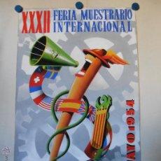 Carteles Feria: FERIA MUESTRARIO INTERNACIONAL VALENCIA 1954 - MAQUETA ORIGINAL PINTADA Y FIRMADA POR A. PERIS. Lote 45677702