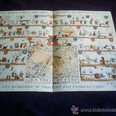Carteles Feria: CARTEL PUBLICITARIO DE LA FERIA DE PARIS DEL 21 DE MAYO AL 6 DE JUNIO DE 1949. Lote 45695253
