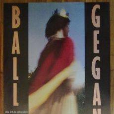 Carteles Feria: BALL DE GEGANTS MERCE 1983 BARCELONA DISEÑO SARSANEDAS/AZCUNCE 54 X 99 CM (APROX). Lote 45834135
