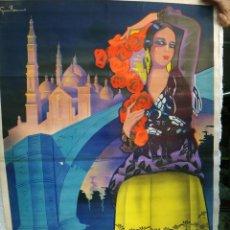 Carteles Feria: CARTEL FERIAS Y FIESTAS DEL PILAR , ZARAGOZA , 1934 , GUILLERMO ,GRANDE , VER FOTOS , ORIGINAL. Lote 46158138