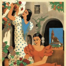 Carteles Feria: FERIA DE MAYO 1936 CÓRDOBA. LÁMINA CARTEL EN PAPEL GRUESO ESTUCADO DE 45 X 32 CMS.. Lote 50741251