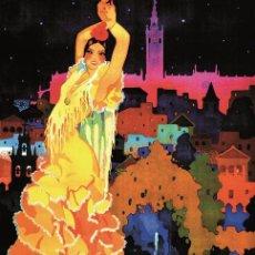 Carteles Feria: FERIA 1933 SEVILLA FIESTAS DE PRIMAVERA. LÁMINA CARTEL 45 X 32 CMS.. Lote 195398710