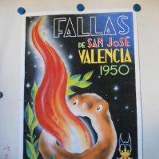 Carteles Feria: MAQUETA ORIGINAL FALLAS DE VALENCIA 1950 - LEMA CRIT - PINTURA ATRIBUIDA A A. PERIS. Lote 46390103