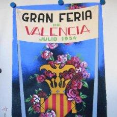 Carteles Feria: MAQUETA ORIGINAL GRAN FERIA DE JULIO DE VALENCIA 1954 - PINTURA ATRIBUIDA A A.PERIS. Lote 46390147