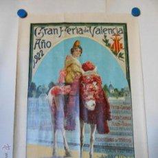 Carteles Feria: CARTEL LITOGRAFICO ORIGINAL GRAN FERIA DE JULIO DE VALENCIA 1922 - ILUSTRA FRANCISCO AGRAMUNT. Lote 46391572