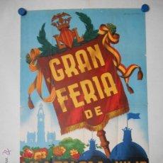 Carteles Feria: CARTEL ORIGINAL LITOGRAFICO FERIA DE JULIO DE VALENCIA 1954 - ILUSTRA CARRILERO ABAD. Lote 46392070