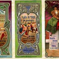 Carteles Feria: CARTEL FERIAS Y FIESTAS, ALGECIRAS , CADIZ , TRIPTICO , CROMOLITOGRAFIA , 1908 ,TOROS, ORIGINAL , A. Lote 46600263