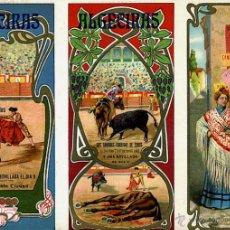 Carteles Feria: CARTEL FERIAS Y FIESTAS, ALGECIRAS , CADIZ , TRIPTICO , CROMOLITOGRAFIA , 1908 ,TOROS, ORIGINAL , A. Lote 46600272