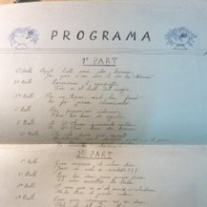 Carteles Feria: RARO CARTEL ORIGINAL PROGRAMA DE BAILES VERANO DE 1924 . SANT ANDREU DE LA BARCA BALL DE LA MONA ... Lote 46982332