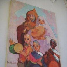 Carteles Feria: ALCOY FIESTAS DE MOROS Y CRISTIANOS EN HONOR A SAN JORGE MARTIR ABRIL 1957.-. Lote 47223369