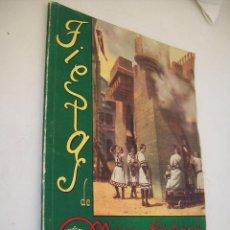 Carteles Feria: LLIBRET DE FIESTAS DE MOROS Y CRISTIANOS EN HONOR A SAN JORGE MARTIR, ALCOY ABRIL, 1948. Lote 47315864