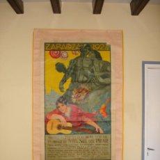 Carteles Feria: ZARAGOZA GRAN CARTEL FIESTAS DEL PILAR AÑO 1924. Lote 47375806