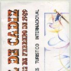 Affiches Foire: CARNAVAL DE CADIZ 1989. PROGRAMA OFICIAL A-C-1444. Lote 206118537