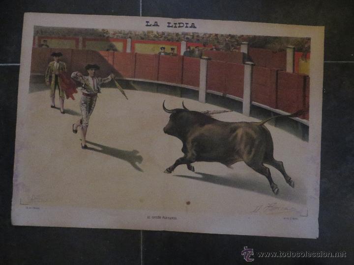 Carteles Feria: LOTE DE 5 CARTELES DE TOROS-LA LIDIA-AÑO 1887-ORIGINALES- - Foto 5 - 47702302