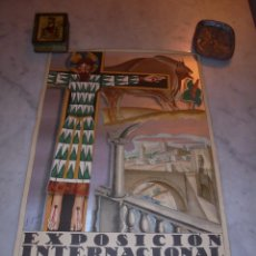 Affiches Foire: CARTEL - EXPOSICION INTERNACIONAL DE BARCELONA 1929 - EL ARTE EN ESPAÑA - AUTOR F. GALI - SEIX & BAR. Lote 47737499