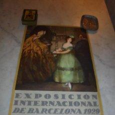 Carteles Feria: CARTEL - EXPOSICION INTERNACIONAL DE BARCELONA 1929 - EL ARTE EN ESPAÑA - AUTOR R. CANALS - SEIX & . Lote 47737543