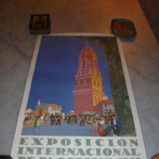 Carteles Feria: CARTEL - EXPOSICION INTERNACIONAL DE BARCELONA 1929 - PUEBLO ESPAÑOL AUTOR X. NOGUES - SEIX & . Lote 47737594