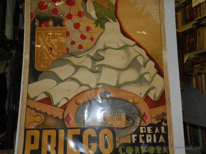 Carteles Feria: CARTEL PRIEGO REAL FERIA DE CORDOBA SEPTIEMBRE 1953, ILUSTRADO POR JOSE ORTIZ, ORIGINAL - Foto 4 - 47738056