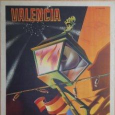 Carteles Feria: CARTEL FALLAS DE VALENCIA - 1947 - ORIGINAL ILUSTRADO POR LLORETE -LITOGRÁFICO. Lote 48142923