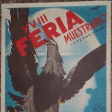 Carteles Feria: CARTEL XVIII FERIA MUESTRARIO INTERNACIONAL VALENCIA 1935 - ILUSTRADO POR COMET. Lote 48147600