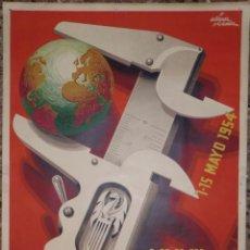 Carteles Feria: CARTEL XXXI FERIA MUESTRARIO INTERNACIONAL VALENCIA 1954 - ILUSTRADO POR ÁLVAREZ GÓMEZ. Lote 48147674