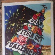 Carteles Feria: CARTEL GRAN FERIA DE VALENCIA - JULIO 1956 - ILUSTRADO POR A. PERIS. Lote 48161310