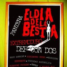 Carteles Feria: POSTER DEL CD DE LA MUSICA DE EL DIA DE LA BESTIA.1995 - EXTREMODURO -DEF CON DOS-PANTERA-SINIESTRO. Lote 49558887