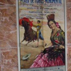 Carteles Feria: CARTEL DE TOROS MONUMENTAL BARCELONA 1953. Lote 48370809