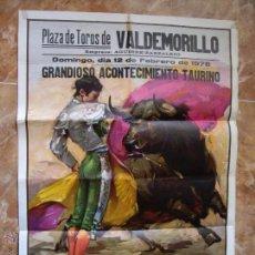 Carteles Feria: CARTEL TOROS VALDEMORILLO 1978. Lote 48386141