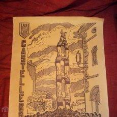 Carteles Feria: CARTEL CASTELLERS D´ALTAFULLA- ALTAFULLA -TARRAGONA. AÑOS 70. Lote 48439472