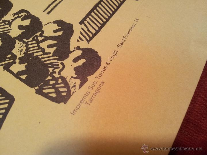 Carteles Feria: cartel castellers d´altafulla- altafulla -tarragona. años 70 - Foto 2 - 48439472