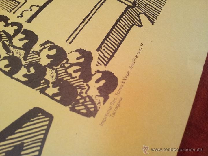 Carteles Feria: cartel castellers d´altafulla- altafulla -tarragona. años 70 - Foto 3 - 48439472