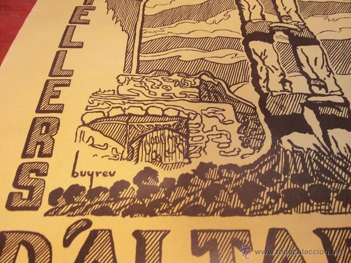 Carteles Feria: cartel castellers d´altafulla- altafulla -tarragona. años 70 - Foto 4 - 48439472