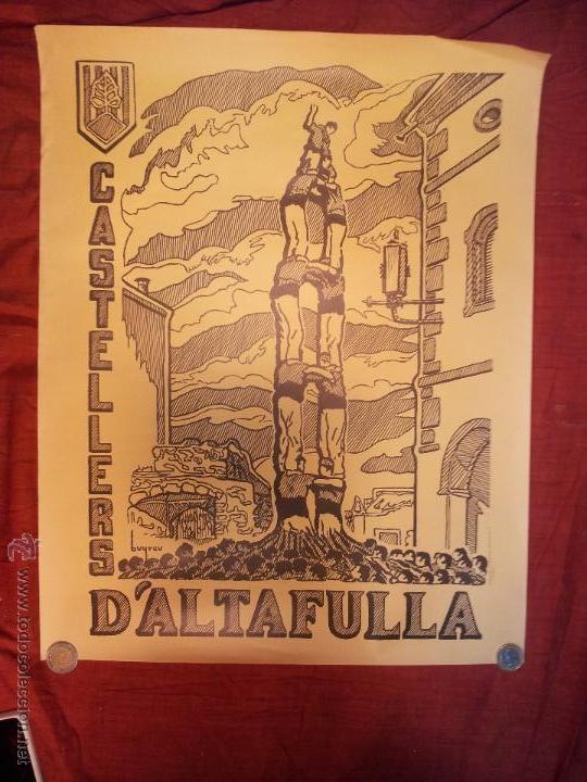 Carteles Feria: cartel castellers d´altafulla- altafulla -tarragona. años 70 - Foto 6 - 48439472