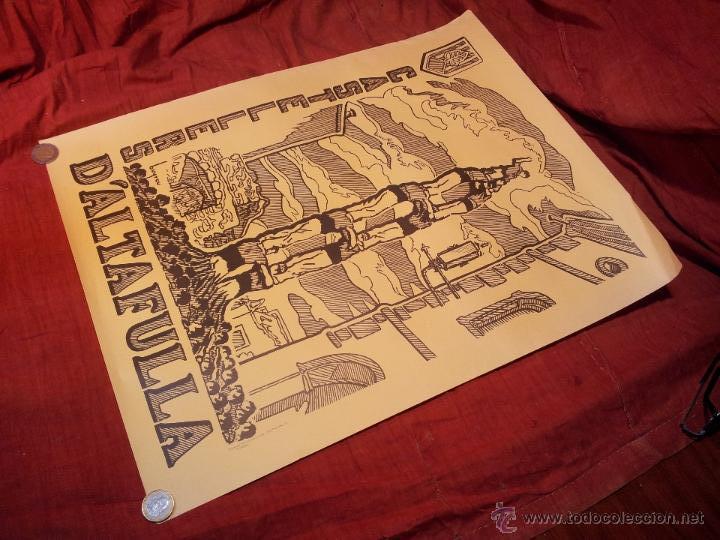 Carteles Feria: cartel castellers d´altafulla- altafulla -tarragona. años 70 - Foto 7 - 48439472