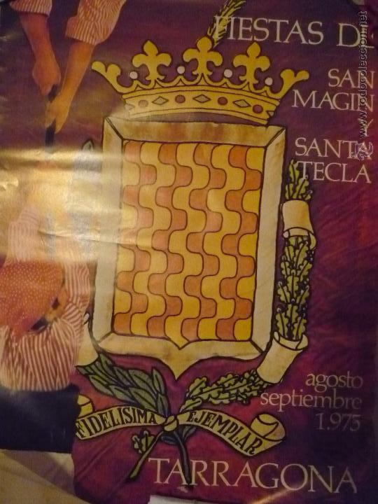 POSTER FIESTAS STA.TECLA TARRAGONA 1975 BB--¡¡¡RECOGER EN MANO O SE MANDA DOBLADO¡¡¡ (Coleccionismo - Carteles Gran Formato - Carteles Ferias, Fiestas y Festejos)