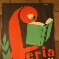 Affiches Foire: CARTEL IMPRESO FERIA NACIONAL DEL LIBRO MADRID 1959. ILUSTRADOR MAIRATA. 42 X 64 CM. Lote 48649227