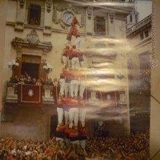 Carteles Feria: LAMINA CALENDARIO TORRES HUMANAS.-VENDRELL TARRAGONA-PUBLICIDAD GRAFICAS FORES-BB. Lote 48652851